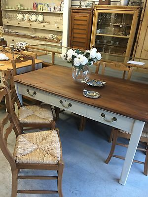 Antique Pine Victorian Dining Table Drawers,Vintage.Kent Furniture Showroom