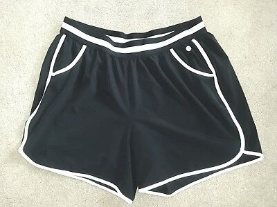 Livi Active black knit shorts with shorts brief lining womens 18/20