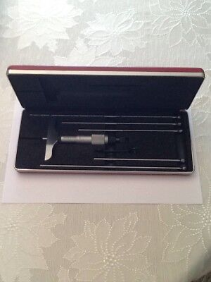 Starrett No. A45AZ- 6RL Depth Micrometer Set Excellent