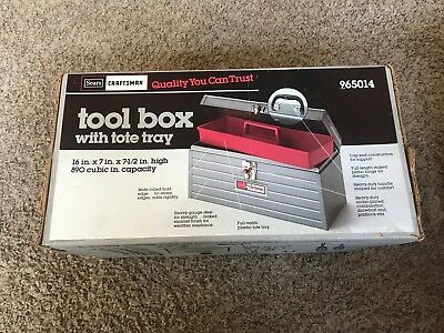 MINT - Vintage SEARS CRAFTSMAN  965014 Mechanic's Tool Box W/ Red Tray FREESHIP