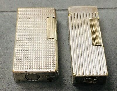 Vintage Dunhill London Made In England & Switzerland Lot Of 2 Lighters