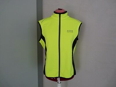 GORE BIKE WEAR Herren Power Windstopper Soft Shell Thermo Weste, Gr. L, neongelb