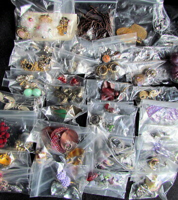Job Lot of 60+ Pairs of Earrings - Vintage & Contemporary
