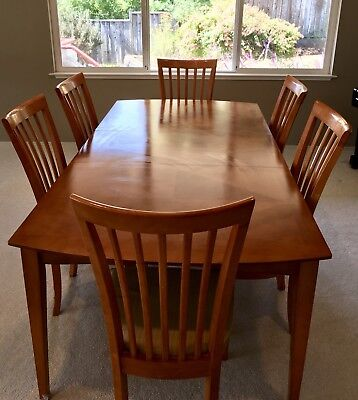 Cherry Wood Dining Room Table and Chairs (Price Negotiable) Used, 8 Chairs