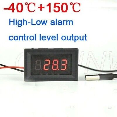 -40℃+150℃ Thermometer digital RED LED temperature controller High-Low Alarm