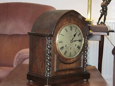 Antique Arched Top Gustav Becker Westminster  Bracket Clock  G W Order