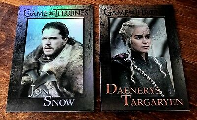 2018 Game of Thrones Season 7 Base FOIL PARALLEL 81 CARD SET