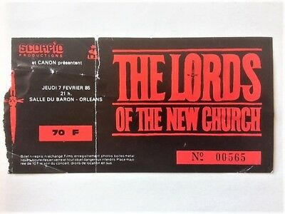 LORDS OF THE NEW CHURCH - ticket concert rock Orléans (France) 1985