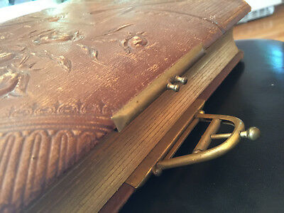 Antique Havy Leather Photos Album Good Condition With 13 Photos