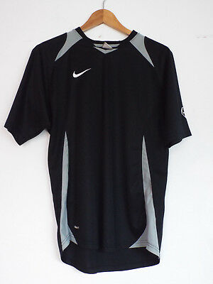 Nike Mens Fit Dry Top Black With Silver Size Med Ex Con Running  Activewear