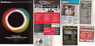 THE ENEMY : CUTTINGS COLLECTION -adverts-