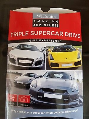 Fantastic Triple Supercar Driving Experience Valid To 01 Dec 2018
