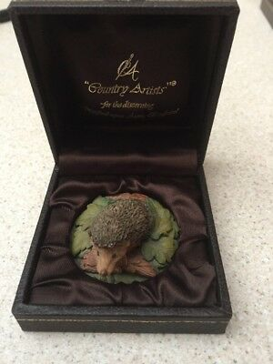 Country Artists Hedgehog boxed ornament