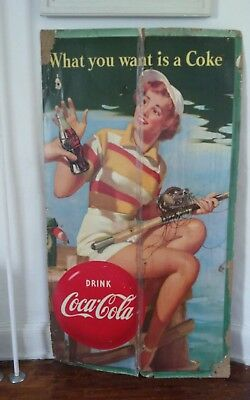 Vintage Coke Advertisement Double Sided Display