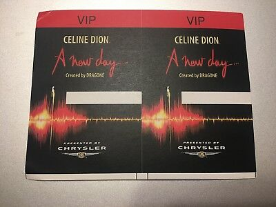 Celine Dion - A New Day - VIP Pass - 2 Passes