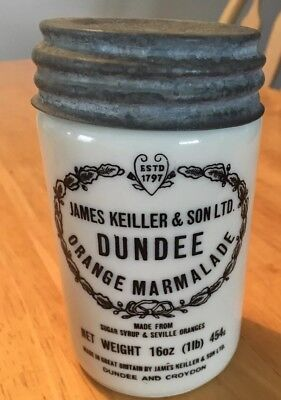 Antique James Keiller & Sons Dundee Orange Marmalade Pot Jar With Lid