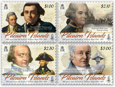 Pitcairn Islands 2017 Captain Bligh Anniversary Set(4) Mnh