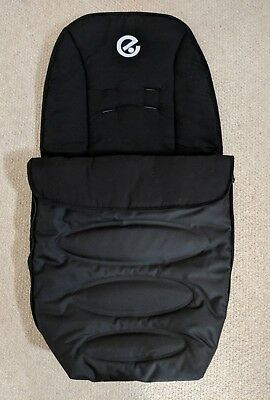 Unused BabyStyle Oyster 1, 2 Max Winter Footmuff/Cosy Toes In Black *Repair?*