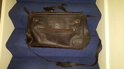 leather weekend holdall travel bag