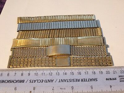 Lot of 6x Vintage Watch Straps inc. Excalibur 64 Rolled Gold 16mm