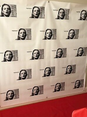 "Taylor Swift ""reputation Tour"" Vinyl 6 X 6 Step And Repeat Banner"