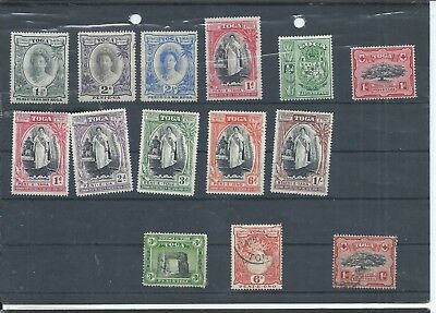 Tonga stamps. Small mixed lot. Bottom 3 are used rest MH. (C103)