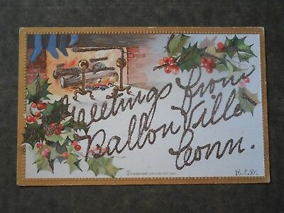 Post Card  H85658  Ballouville, Killingly, CT  Greeting from Ballouville  c-1906