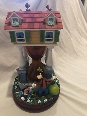 Disney Mickey Mouse and Friends Hourglass Snowglobe Pluto House Donald chip dale