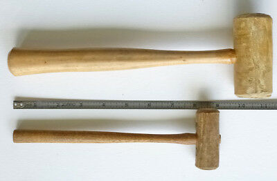 Two Used Rawhide MALLETS for Jewelry & Watch Repair, Metal Gunsmith Crafts (2)