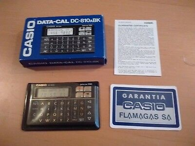 Casio Data-Cal Dc-810Abk Vintage Electronic Calculator Boxed