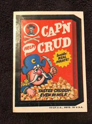Vintage Topps 1970's Wacky Packages Sticker - Cap'n Crud - 2nd Edition