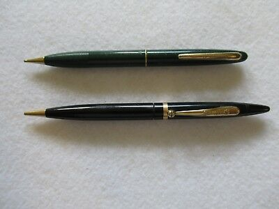Vintage .lot Of 2, Schaffers Mechanical Pencils,green &.black,excell Cond,lot D