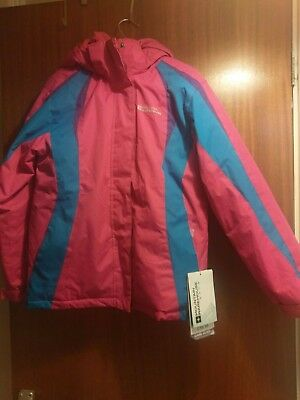 Mountain Warehouse Snow Winter Coat Jacket Size 9-10 Years Pink & Blue