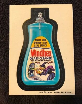 Vintage Topps 1970's Wacky Packages Sticker - Windhex Cleaner - 4th Edition