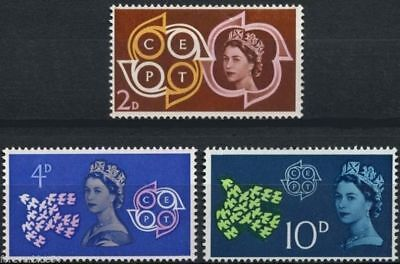 GB 1961 SG626-628 CEPT Conference Set Mint Unmounted Mint