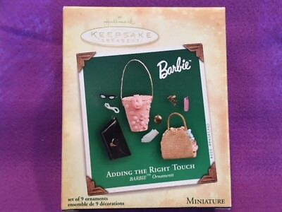 """Barbie Hallmark Ornament """"Adding the Right Touch""""  NRFB!!  Mint!!!"""