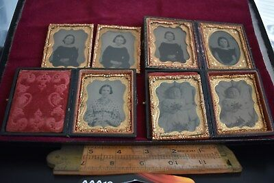 Lot of Seven Tin Types - Two Post Mortem