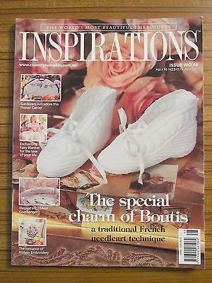 Inspirations Issue # 48 - World's Most Beautiful Embroidery Uncut Patterns