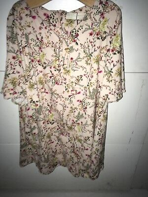Girls Zara Age 11 - 12 Floral Print PlaySuit / Jumpsuit Green Pink Yellow Red