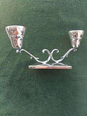 Vintage P. Lopez Mexican Sterling Silver Candle Holder