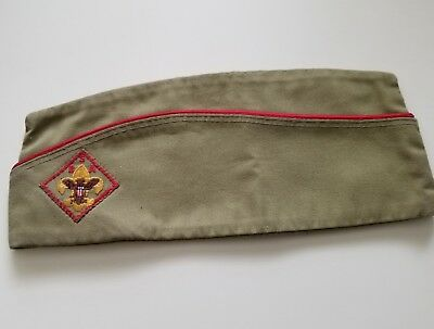 OLD BOY SCOUT FIELD CAP GARRISON Style Vintage Hat size LARGE   FAST SHIPPING