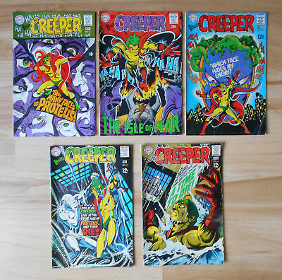 Beware the Creeper 2 – 6 DC Comics 1968 – 1969 Lot of 5 Mid Grade or Better