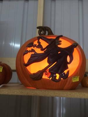 Lighted Witch in Pumpkin