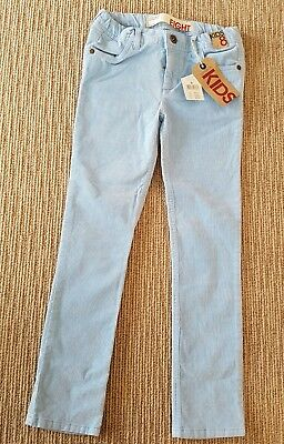 Girls light blue cord jeans by cotton 9n kids. Size 8 new with tags rrp $29.95