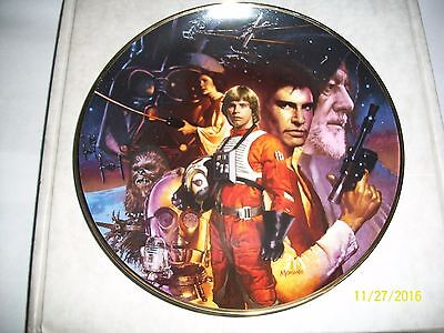 The Hamilton Collection Star Wars Trilogy Collector Plate with COA
