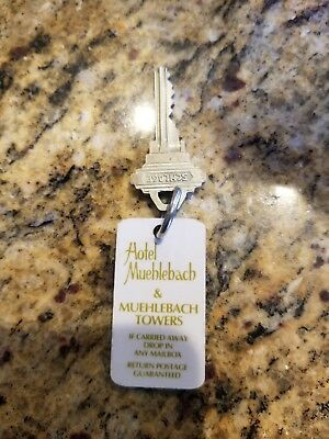 Hotel Muehlebach Towers Key Fob/Tag Badge Kansas City MO Room 1005 Vintage