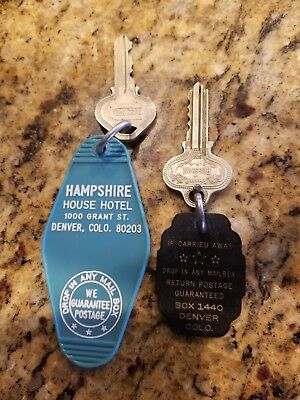 Vintage hotel keys from DENVER, COLORADO