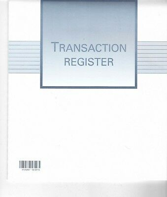 "Transaction Register For Checking W ""8 X H 9 ( 16 Pages)"