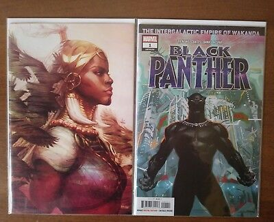 Black Panther #1 (2018) Artgerm 1:100 Virgin Variant and Regular Cover