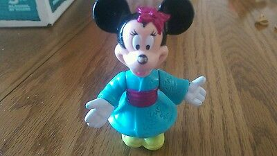 Disney Epcot Center Plastic Figurine Minnie Mouse Poseable Cake Topper
